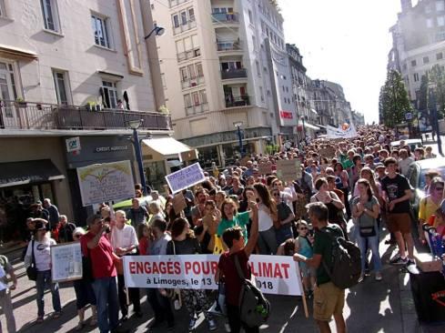 Marche 13-10 à Limoges